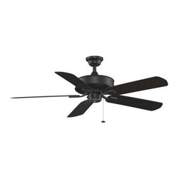 Fanimation - Fanimation EdgeWood 52 Wet Location Ceiling Fan in Black - Fanimation EdgeWood 52 Wet Location Model FA-TF910BL in Black with Black ABS All-Weather Composite Finished Blades.