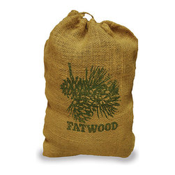 Uniflame - Uniflame C-1751 8 Pounds Fatwood in Burlap Sack - 8 Pounds Fatwood In Burlap Sack belongs to Outdoor Living Collection by Uniflame