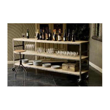Aaron Rolling Cart with Casters - Store, serve and display drinks on this piece. I love this bar cart for entertaining a crowd.