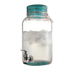 Jay Import Co - Suntea Beverage Dispenser, Green - Now you can always have sun tea on tap! Make and serve everyone's favorite refreshment with this attractive 1-gallon glass dispenser, complete with its own handy spigot.