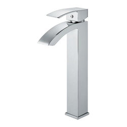 Vigo Industries - Angled Spout Chrome Vessel Sink Faucet - Add a modern flare to any bath decor with this elegant and stylish chrome vessel sink faucet.