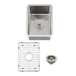 Schon - Schon Luxury Small 16 Gauge Single Bowl Radius Corner Bar Sink (SCRASB152016) - Schon SCRASB152016 Luxury Small 16 Gauge Single Bowl Radius Corner Bar Sink, Stainless Steel
