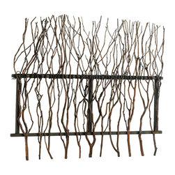 Cyan Design - Cyan Design Branch Wall Decor - A Fenced FlourishCreate a woodsy, enchantingly natural touch to a plain wall with this decorative piece. Scraggly branches hang in a row on a sturdy frame for an artistic, Pacific Northwest accent. It's the perfect amount of texture to make a 'boring beige' wall more interesting. Or, hang it above the bed for an easy and interesting headboard. It's that little bit of nature you've been looking for to spice up the indoors!Crafted from real woodFinished with a rosewood stainMounting hardware includedMatches the other Branch decor pieces