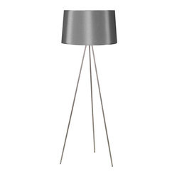 Weegee Floor Lamp, Platinum Silk Glow
