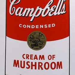"""Andy Warhol Campbell Soup Can (Cream of Mushroom) Sunday B Morning Print Popart - STUNNING CAMPBELLS SOUP CAN ANDY WARHOL SUNDAY B MORNING SERIGRAPH SCREEN PRINT!, These are fabulous exciting silkscreen screenprints. These are Sunday B. Mornings editions screenprints that are stamped on the verso in blue ink published By Sunday B Morning, fill in Your Own Signature. The inks' are the 1980's editions and the quality and integrity of the prints is impeccable. They are excellent High quality Silkscreen Screenprints printed on 'museum board' with the highest quality archival inks. Comes with Certificate of Authenticity. These are highly sought after by collectors for their quality, rarity and exciting vibrant colors.These are in excellent mint condition. Size is large at 35"""" x 23"""" inches."""