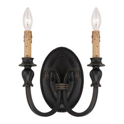 Karyl Pierce Paxton - Karyl Pierce Paxton Provence Traditional 2-Light Wall Sconce X-61-2-423-9 - This Savoy House Lighting Provence Traditional Single Light Wall Sconce is a simple yet stylish piece. It has a streamlined design, with its two gently scrolled arms in an antique copper finish that support cream candle drip covers. You certainly can't go wrong when decorating with this beautiful and impressive light fixture.