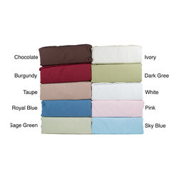 None - Beauty Sleep Solid Soft Microfiber Sheet Set - Add comfort and style to any bedroom decor with these attractive microfiber solid color sheets. These microfiber sheets have a double brushed finish that makes them extra soft and luxurious.