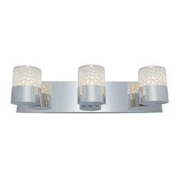 Access Lighting - Access Lighting 51013-CH/CCL Kristal Modern Bathroom Light - Chrome - Access Lighting 51013-CH/CCL Kristal Modern Bathroom Light In Chrome