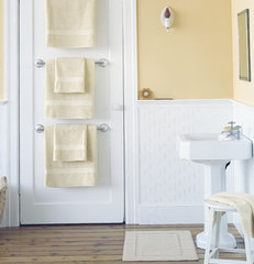 traditional towel bars and hooks Bathroom Organizers Towel Bar Trio