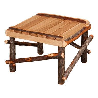 Amish Made Hickory Rocker (Live Edge Slats), With Footrest - Includes Live Wood Slat Footrest.