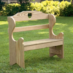 Fifthroom - Treated Pine Deacon's Bench - Add some charm to any outdoor area with this Treated Pine Deacon�s Bench. Ideal for outdoor areas such as gardens, it is an inviting and stylish way to take a break while enjoying the outdoors. Read a book, or simply sit and listen to the sounds of nature, while experiencing the comfort of this fine piece. Constructed of treated pine, optional staining or painting is available on request.