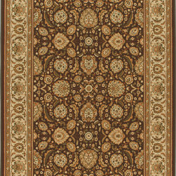 """Orian - Orian American Heirloom Farran (Chocolate) 3'11"""" x 5'5"""" Rug - American Heirloom Collection, Orian Rugs' flagship collection is inspired by classic, hand-woven oriental rugs that combine understated elegance with classic style. The 1.5 million point design construction is densely woven with Orian's finest-denier yarns creating unparalleled visual dimension and pin point design clarity."""