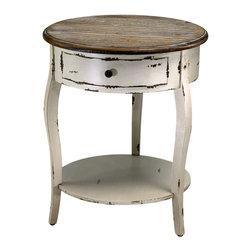 Cyan Design - Abelard Side Table - Abelard side table - distressed white and gray