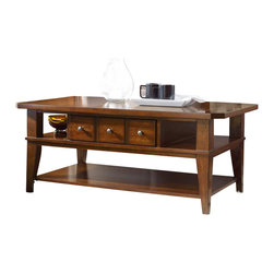 Hooker Furniture - Hooker Furniture Wendover Rectangle Cocktail Table - Hooker Furniture - Coffee Tables - 103781110 - Wendover's style is relaxed and casual but it works hard to make it easy for you to find a solution for virtually any home office or home entertainment need.
