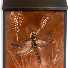 Mailboxes Greg Hentzi Designs: Locking Copper Wall Mount Mailbox - Great Dragonfly