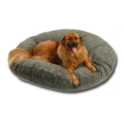 Hidden Valley Products - SuperSoft Round Poly-Suede Dog Bed - SSR/PAW/M - Shop for Beds Covers and Fill from Hayneedle.com! The SuperSoft Round Poly-Suede Dog Bed is filled with Hypro-loft fiber an exclusive blend of virgin and recycled fibers which provide unmatched loft by not shifting or matting. Machine washable cotton-polyester blend cover which removes for easy cleaning. Available in the following sizes: Medium: 36 x 36 inch diameter Large: 42 x 42 inch diameter X-Large: 52 x 52 inch diameter Poly-Suede is quality brushed microsuede fabric heavy duty 12 oz. 100% polyester with added backing for strength and durability washable and easy care comfort at its finest add a touch of luxury with this top-rated microsuede in a collection of colors to match any home decor.