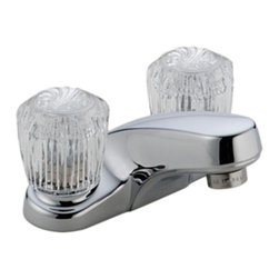 Delta - Delta 2502LF Classic Two Handle Centerset Lavatory Faucet - Less Pop-Up (Chrome) - Delta 2502LF Classic Collection is designed to complement any homes design style  with simple and sensible style. The Delta 2502LF is a two handle Lavatory Faucet in Chrome.