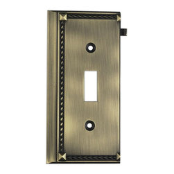"Elk Lighting - Elk Lighting 2507AB Antique Brass End - Antique Brass End belongs to Clickplates Collection by Elk Lighting Decorative Outlet Covers Customizable To Your Receptacle Configuration. ""We'Ve Got You Covered"" With The Most Popular Models And Finishes. Quality Cast Metal Construction Will Add A Finishing Touch To Your decor. Clickplates Will Look Great In Every Room In Your Home. Clickplate (1)"