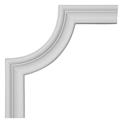 """Ekena Millwork - 7 7/8""""W x 8 1/8""""H Stockport Panel Moulding Corner - 7 7/8""""W x 8 1/8""""H Stockport Panel Moulding Corner. Our beautiful panel moulding and corners add a decorative, historic, feel to walls, ceilings, and furniture pieces. They are made from a high density urethane which gives each piece the unique details that mimic that of traditional plaster and wood designs, but at a fraction of the weight. This means a simple and easy installation for you. The best part is you can make your own shapes and sizes by simply cutting the moulding piece down to size, and then butting them up to the decorative corners. These are also commonly used for an inexpensive wainscot look."""