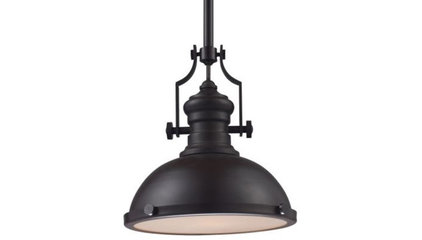 Chadwick Pendant with Metal Shade by Landmark Lighting