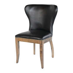 Richmond Dining Chair, Old Saddle Black/Weathered Oak