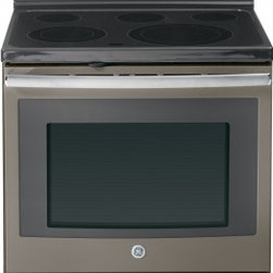 """GE - JB695EFES 30"""" Free-Standing Electric Convection Range With Fifth Element Warming - The JB695 is a self-cleaning range with steam clean option letting you choose how to clean your oven The included storage drawer will give you a handy place to store baking sheetspans"""