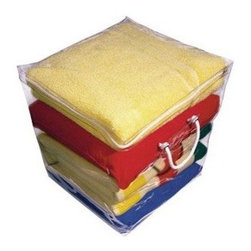 Richards Homewares - Richards Homewares Clear Vinyl Cube Storage Bag - Protect and store virtually anything in the super transparent, extra thick vinyl storage chests. This size, 16 x 16 x 16* is perfect for items such as blankets, comforters, clothing, and visibility other items.