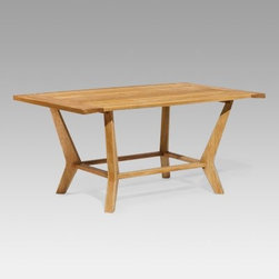 Oxford Garden Sutton Classic Outdoor Coffee Table - The Sutton Coffee Table by Oxford Garden brings you a modern outdoor seating centerpiece crafted from traditional materials. The Shorea wood used in the construction of this table is similar to teak and will ensure years of lasting quality. It features a slat-style top and uniquely shaped legs. The mortise and tenon joint construction adds strength and longevity to the piece. Shorea Wood: An Eco-Friendly ChoiceLike teak it's more expensive counterpart Shorea is a high-quality hardwood praised not only for its looks but also for its longevity and resistance to decay. Shorea is hard and dense like teak. In fact it possesses an even tighter wood grain making it heavier denser and harder than teak and both woods are extremely resistant to decay. Shorea wood contains a comparatively high oil content which not only enhances its defenses against the ravages of time and changing climate but also against destructive insect infestations. So if teak and Shorea are so similar why does teak cost up to twice as much? Shorea's lower cost can be attributed to its abundance compared to teak's rarity. This abundance of supply is also what makes Shorea a green choice. Shorea wood is carefully regulated. Only mature trees can be legally harvested. This ensures a steady supply of Shorea wood while also protecting irreplaceable forests. Because Oxford Garden obtains their Shorea wood from superior sources minimal processing is required to bring out the wood's stunning color and grains. This means less chemicals used. Oxford Garden's factories use recycled wood to fuel production kilns. They take steps to conserve natural resources and the result is a smaller carbon footprint. Why Choose Oxford Garden?Exquisite pieces and impressive product assortment aside there are several factors that set Oxford Garden apart from the competition. First Oxford Garden starts with the best Shorea wood sources. This results in more beautiful more durable furniture. The next thing that distinguishes them is their unrivaled craftsmanship. They take pride in meticulous construction of each product. In fact Oxford Garden has a unique multiple quality checkpoint system to be sure you're getting the best. Most of their products go through rigorous consumer safety tests and before they package any product they put it together themselves to ensure it assembles seamlessly for you. Thirdly Oxford Garden believes furniture should be comfortable and attractive. They create ergonomic pieces designed to accommodate the contours of the human body. Finally by using Shorea wood Oxford Garden is able to bring you affordable luxury. Their superb craftsmanship ensures longevity for years of enjoyable use while their incomparable designs are centered on comfort and beauty.