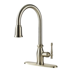 Fontaine - Fontaine Giordana Stainless Steel Single-handle Pull Down Kitchen Faucet - Give your kitchen an instant makeover with the Giordana pull down kitchen faucet by Fontaine.