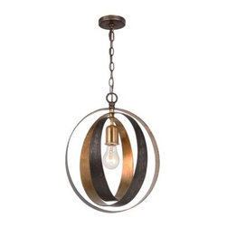 Crystorama - Hall Fixture - Luna is lighting that makes a statement. Each fixture is like a piece of modern art with bold shapes and lines. The English Bronze and Antique Gold finish have wonderful textures and movement.