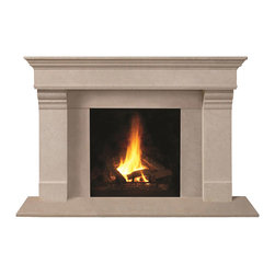 Omega Mantels & Mouldings Ltd - 1110.556 cast stone mantel, Limestone Open Cast - This unique design will help you achieve the look you desire.