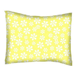 SheetWorld - SheetWorld Twin Pillow Case - Percale Pillow Case - Pastel Yellow Floral Woven - Twin pillow case. Made of an all cotton flannel fabric. Side Opening. Features the one and only pastel yellow floral woven!