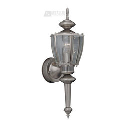 Designers Fountain - Designers Fountain Motion Detectors Security Wall Sconce X-21-M3408 - The beauty and elegance of solid cast aluminum with three functions in one.