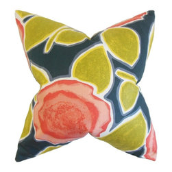 "The Pillow Collection - Carlin Floral Pillow, Poppy 20"" x 20"" - Add a touch of spring to your living space with this blooming accent piece."