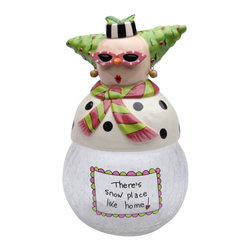 Apple Tree - There's Snow Place Like Home Dollymama's Snowmama Cookie Jar - This gorgeous There's Snow Place Like Home Dollymama's Snowmama Cookie Jar has the finest details and highest quality you will find anywhere! There's Snow Place Like Home Dollymama's Snowmama Cookie Jar is truly remarkable.