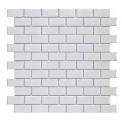SomerTile Victorian Subway White Porcelain Mosaic Tile - SomerTile Victorian Subway White Porcelain Mosaic Tile from Overstock.com