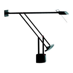 """Artemide - Artemide Tizio classic table lamp - The Tizio classic table lampfromArtemide has been designed by Richard Sapper in 2002. This table and desk standing luminaire is great for orientable task lighting. The Tizio classic is composed of fully adjustable, balanced electrical conductor arms in anti-corrosion treated aluminum, with the diffuser in die-cast aluminum and inner high efficiency reflector in anodized aluminum, with U.V bulb protective glass. This energy efficient light source also includes a 360 degree rotatable base with incorporated low voltage transformer and two-intensity On/Off switch. UL listed.  Product description:  The Tizio classic table lampfromArtemide has been designed by Richard Sapper in 2002. This table and desk standing luminaire is great for orientable task lighting. The Tizio classic is composed of fully adjustable, balanced electrical conductor arms in anti-corrosion treated aluminum, with the diffuser in die-cast aluminum and inner high efficiency reflector in anodized aluminum, with U.V bulb protective glass. This energy efficient light source also includes a 360 degree rotatable base with incorporated low voltage transformer and two-intensity On/Off switch. UL listed.   Details:     Manufacturer:  Artemide   Designer:  Richard Sapper   Made in: Italy   Dimensions:   Height: Max 47"""" (120cm) X Width: Max 42.5"""" (108cm)     Light bulb:    1 X 50W halogen     Material  aluminum, thermoplastic"""