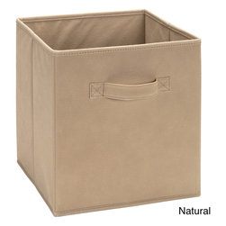 None - Fabric Storage Bins - These fabric storage bins are the perfect solution for a variety of storage needs.   Featuring sturdy fabric handles,these bins can be used alone or in cubby organizers as drawers.
