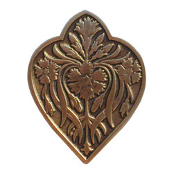 "Inviting Home - Dianthus Knob (antique brass) - Hand-cast Dianthus Knob in antique brass finish; 1-1/2""W x 1-7/8""H Product Specification: Made in the USA. Fine-art foundry hand-pours and hand finished hardware knobs and pulls using Old World methods. Lifetime guaranteed against flaws in craftsmanship. Exceptional clarity of details and depth of relief. All knobs and pulls are hand cast from solid fine pewter or solid bronze. The term antique refers to special methods of treating metal so there is contrast between relief and recessed areas. Knobs and Pulls are lacquered to protect the finish. Alternate finishes are available. Detailed Description: The Dianthus knobs bring the sophisticated feel the antique homey feel to your cabinets. These pulls will be a great accent to old-world cabinets as well as bringing a polished feel to any antiqued furniture. Sometimes antique finish ends up looking a bit shabby and drabby but installing these knobs will make the cabinets pure chic. It would be a better choice to keep with Dianthus pulls if you would like to use them in conjunction with the pulls. Dianthus knobs are part of English Garden Hardware Collection. Reflecting the meticulous effort that produced these stunning gardens from a bygone era each of the knobs and pulls in this line features individually hand-cast and hand-finished design work. There are soft graceful roses and poppies (McKenna's Rose knobs and Poppy Knobs) reminiscent of classic beauty and elegance. While other like Dianthus Pulls or Mountain Ach knobs feature crisply detailed styling with colorful background. Each knob's design marries Mother Nature and Craftsmanship into decorative hardware that adds beauty to any room of your home"