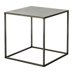 """patrick cain designs - Clear Coated Raw Metal Cube - This is 17""""x17""""x17"""" clear coated raw steel cube made from 1/2"""" tubing."""