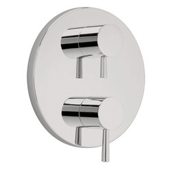 American Standard - American Standar T064.740.295 Standard T064740 Serin Valve Trim Kit-Satin Nickel - American Standar T064.740.295 Standard T064740 Serin two handle Thermostatic Valve Trim Kit,  Satin Nickel. This Valve Trim Kit features  two metal knob handles and a Metal wall escutcheon. Fits R520 or R540 Thermostatic rough shower valves