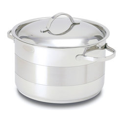 Cuisinox - Cuisinox Gourmet 7 .8 qt Covered Dutch Oven - A Dutch oven is likely the most often used pot of all pots. It is not too big and not too small. Made from 18/10 stainless steel in a two toned finish and a 3-ply clad base which guarantees superior quality.