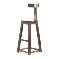"""30"""" Rustic Wooden Barstool - This rustic bar stool comes from the French country furniture collection. It will help you add a glint of modernized and trendy character to a minimalist interior setting in the bar. The clean borderline and the well-cut edges make it an elegant item of interior decoration."""