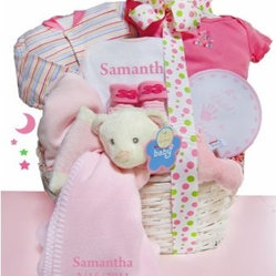 Cashmere Bunny Personalized Bear Nap Time - Girl