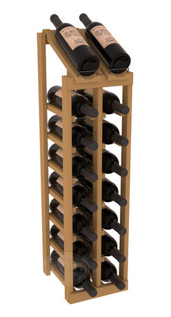 Wine Racks America - 2 Column 8 Row Display Top Kit in Pine, Oak Stain - Display your best vintage while efficiently storing 16 wine bottles. This slim design is a perfect fit for almost any space. Our wine cellar kits are constructed to industry-leading standards. Display top wine racks are perfect for commercial or residential environments.
