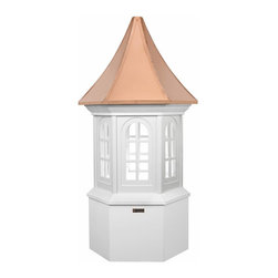 G.D. - Good Directions Smithsonian Georgetown Cupola - Good Directions has been selected by the Smithsonian Institution to design and market their exclusive line of Cupolas. More substantial than other PVC or PVC-coated products, these Vinyl Cupolas are constructed from solid vinyl plank and board, which makes them maintenance-free and able to resist the elements. Several sizes available.