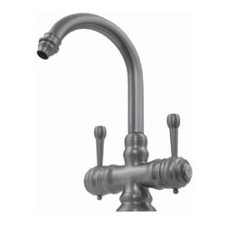 Whitehaus Collection - Weathered Copper Whitehaus WH20106 Single Hole Lever Handles Prep Goose Neck Kit - Admire the new kitchen faucet from the brand Whitehaus which stands bold and proud. This prep kitchen faucet from the Evolution series is for those who are passionate about quality and good prices. You can choose from its wide array of finishes to best suit the character of your kitchen.