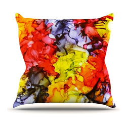 """Kess InHouse - Claire Day """"Southern Comfort"""" Throw Pillow (Outdoor, 16"""" x 16"""") - Decorate your backyard, patio or even take it on a picnic with the Kess Inhouse outdoor throw pillow! Complete your backyard by adding unique artwork, patterns, illustrations and colors! Be the envy of your neighbors and friends with this long lasting outdoor artistic and innovative pillow. These pillows are printed on both sides for added pizzazz!"""