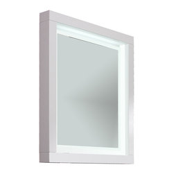 "Due 31"" 1/2 LED touch light mirror. White. - Due 31"" 1/2 LED mirror. White."