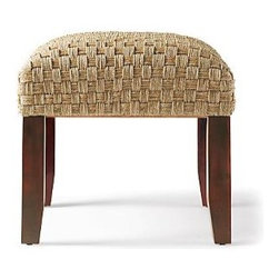 Seagrass Stool - Add some additional seating to a room with this wonderful seagrass stool.  Buy two and tuck them under a console or sofa desk for a great design look that will be easy to access for seating when needed.